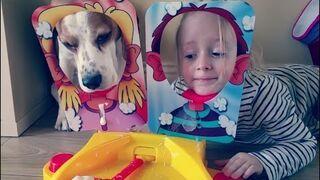 Pies Uwielbia grać w Pie Face