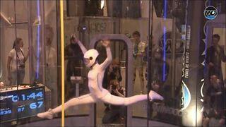 Maja Kuczyńska - taniec w tunelu aerodynamicznym