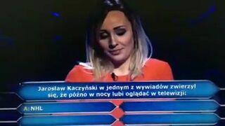 Pytanie w Milionerach: Co w nocy lubi oglądać w telewizji Jarosław Kaczyński