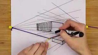 Profesjonalne rysowanie perspektywy za pomocą gumki
