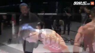 Dziwne zachowanie zawodnika po wygranej walce, uciekał przed Ring Girl
