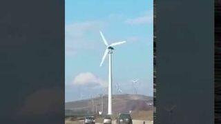 Turbina wiatrowa wpadła w szał