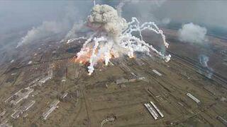 Potężny wybuch składu amunicji na Ukrainie