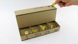 Zrób to sam: Maszyna z kartonu do sortowania monet