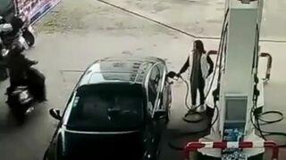 Ukradł torebkę na stacji benzynowej i przygrzmocił uciekając w ścianę