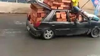 Przewożenie pustaków samochodem osobowym
