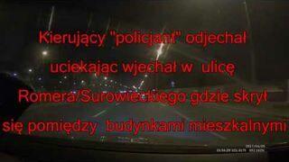 Warszawa: Kozak z odznaką policyjną z allegro