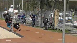 Bardzo silny wiatr w Holandii