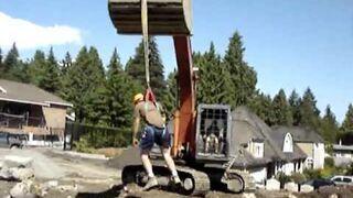 Ciekawy dzień na budowie