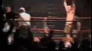 Matka zawodnika na ringu