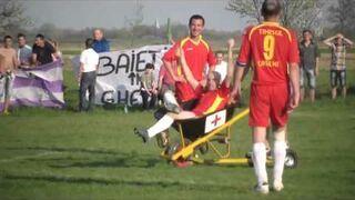 Pomoc medyczna na meczu w Rumuni