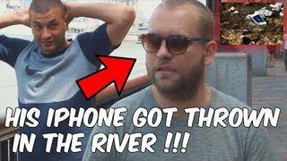 Magik wyrzucił kolesiowi Iphone do rzeki