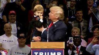Donald Trump dopuścił dzieciaka do głosu