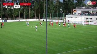Sokół KONSPORT Aleksandrów Łódzki - Widzew Łódź 0:1 - Bramka Michała Millera