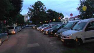 Poranna niespodzianka dla kierowców w Gdańsku (balony)