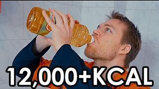 Wypił 1,5 litra oleju rzepakowego (12,000 kcal)