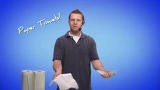 Papierowe ręczniki - reklama
