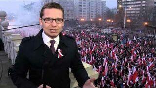 """""""Nie jesteśmy TVN, jesteśmy Republika!"""" na Marszu Niepodległości"""