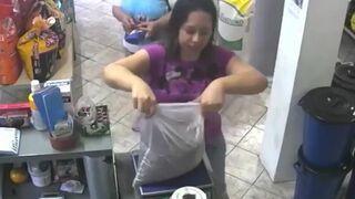 Niecodzienna kradzież w sklepie