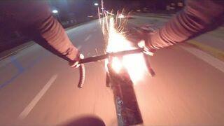 Rowerzysta kontra skuterzyści