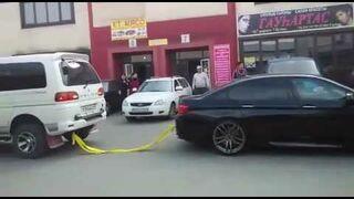 Przeciąganie liny - BMW F10 M5 vs Truck
