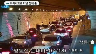 Reakcja kierowców w Korei Południowej na wypadek