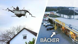 Niemiec w latającej wannie