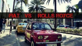 FIAT 126 vs Rolls-Royce w najbogatszej dzielnicy BEVERLY HILLS