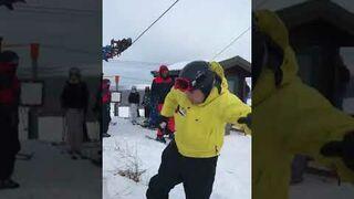 Pierwszy raz na wyciągu narciarskim