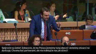 """Dominik Tarczyński """"zaorał"""" Radę Europy"""