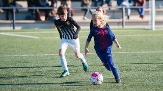 Michał Żuk - 9-letni Polak na boisku FC Barcelony