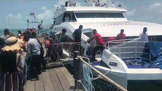 Boat to Ko tao thailand