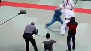 Kiedy sędzia judo się zdenerwuje