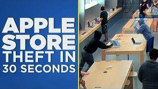 Okradli Apple Store w 30 sekund