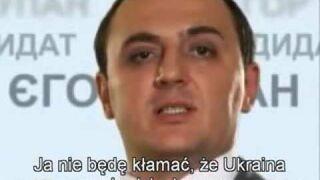 Jegor Łupan - szczery spot kandydat na prezydenta Ukrainy
