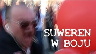Suweren w bitewnym zapale podczas Marszu równości w Lublinie (13.10.2018)