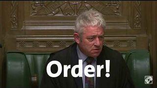 Order! Marszałek Izby Gmin John Bercow