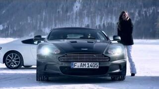 Drift on ice with Aston Martin On Ice 2012