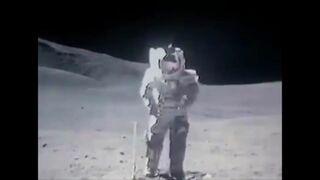 Film z lądowania na księżycu w przyśpieszonym tempie