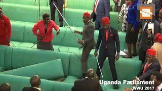 Bujka w ugandyjskim parlamencie (WWE)