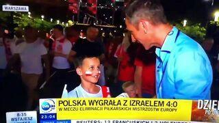 Wywiad z młodym kibicem po meczu Polska - Izrael