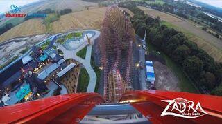 ZADRA najwyższy na świecie drewniany rollercoaster - Test - Energylandia