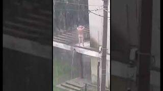 Prysznic w Rumuni