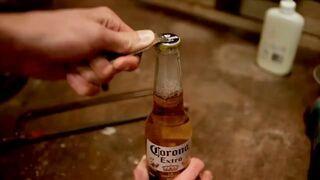 Pomysłowa reklama piwa Corona