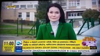Mistrz drugiego planu w relacji o koronawirusie w TVN24