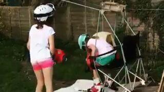 Ojciec roku zbudował stok narciarki z wyciągiem dla córek