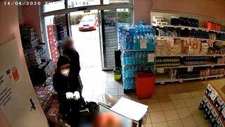 Podejrzany napad na sklep