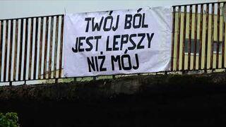 """""""Twój ból jest lepszy niż mój"""" wiadukt Gdańsk"""