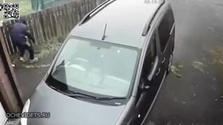 Próbował uszkodzić sąsiadowi samochód ...