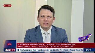 TVP na żywo wycisza Mentzena